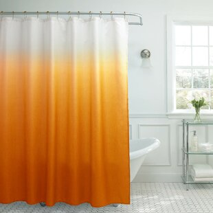 Hallstead Waffle Fabric Weave Single Shower Curtain