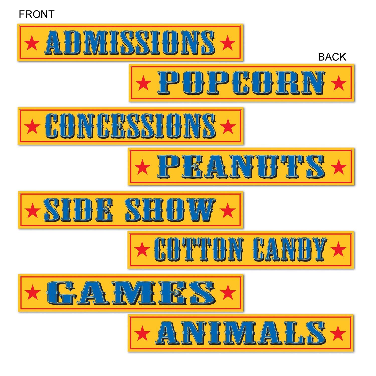 The Holiday Aisle 4 Piece Circus Sign Cutout Wall Décor Set | Wayfair