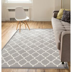 Kings Court Brooklyn Trellis Lattice Gray Indoor Area Rug