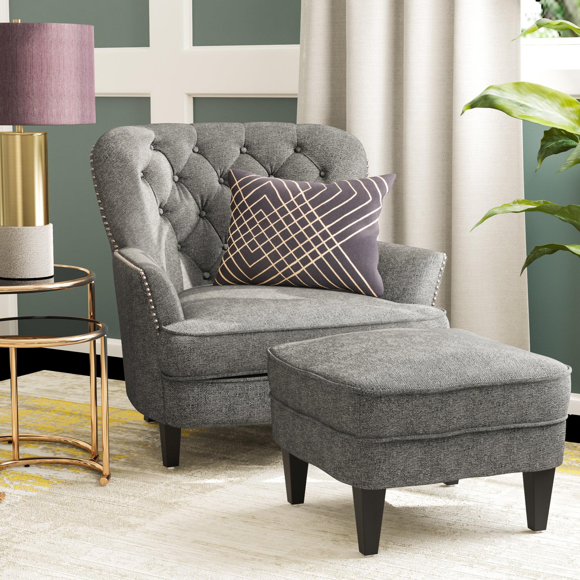 Willa Arlo Interiors Heywood Armchair And Ottoman Wayfair