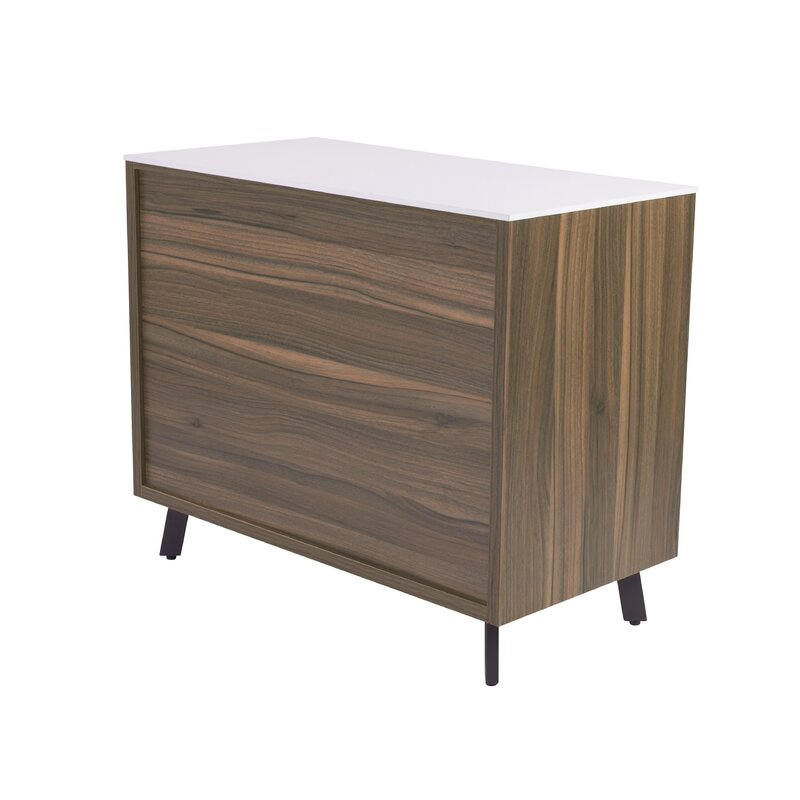 wade logan barkeyville 2 drawer lateral file cabinet & reviews | wayfair 2 drawer lateral file cabinet