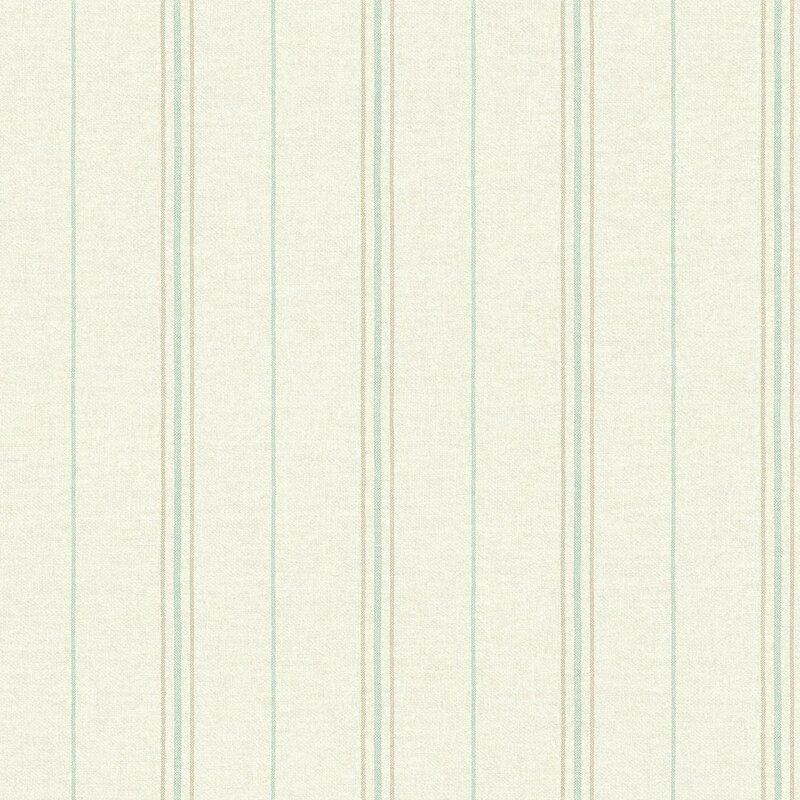 Grain Sack 33 L X 205 W Stripe Wallpaper Roll
