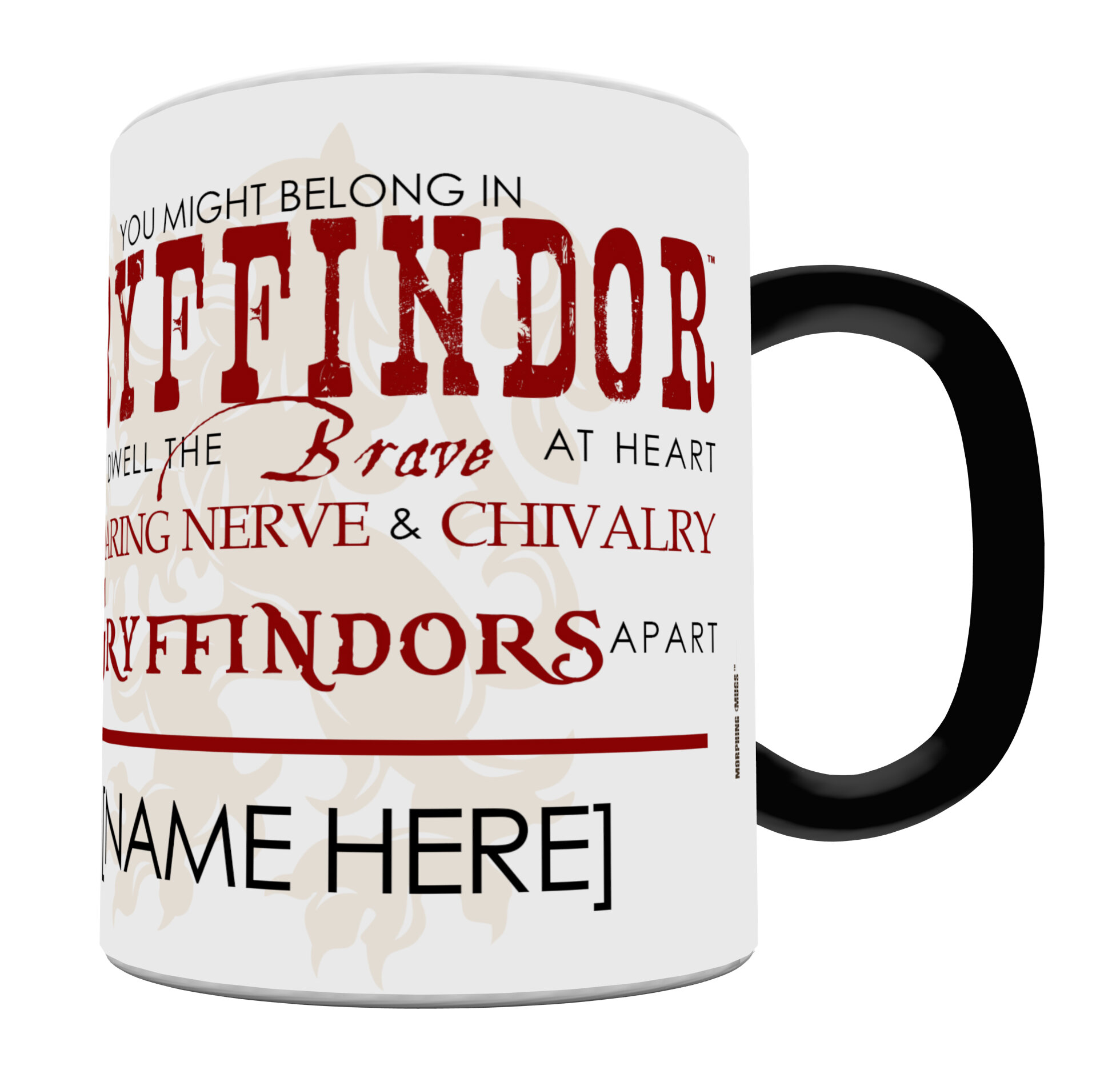 Morphing Mugs Harry Potter Sorting Hat Gryffindor Personalized Heat ...