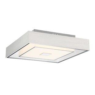 rectangular flush mount ceiling light led surface mount kittle 1light led semi flush mount squarerectangle mounts youll love wayfair