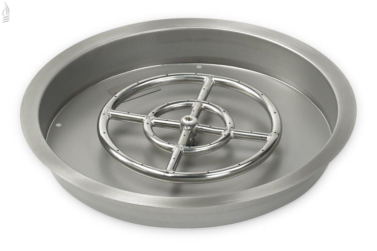 Steel Gas / Propane Fire Pit Pan
