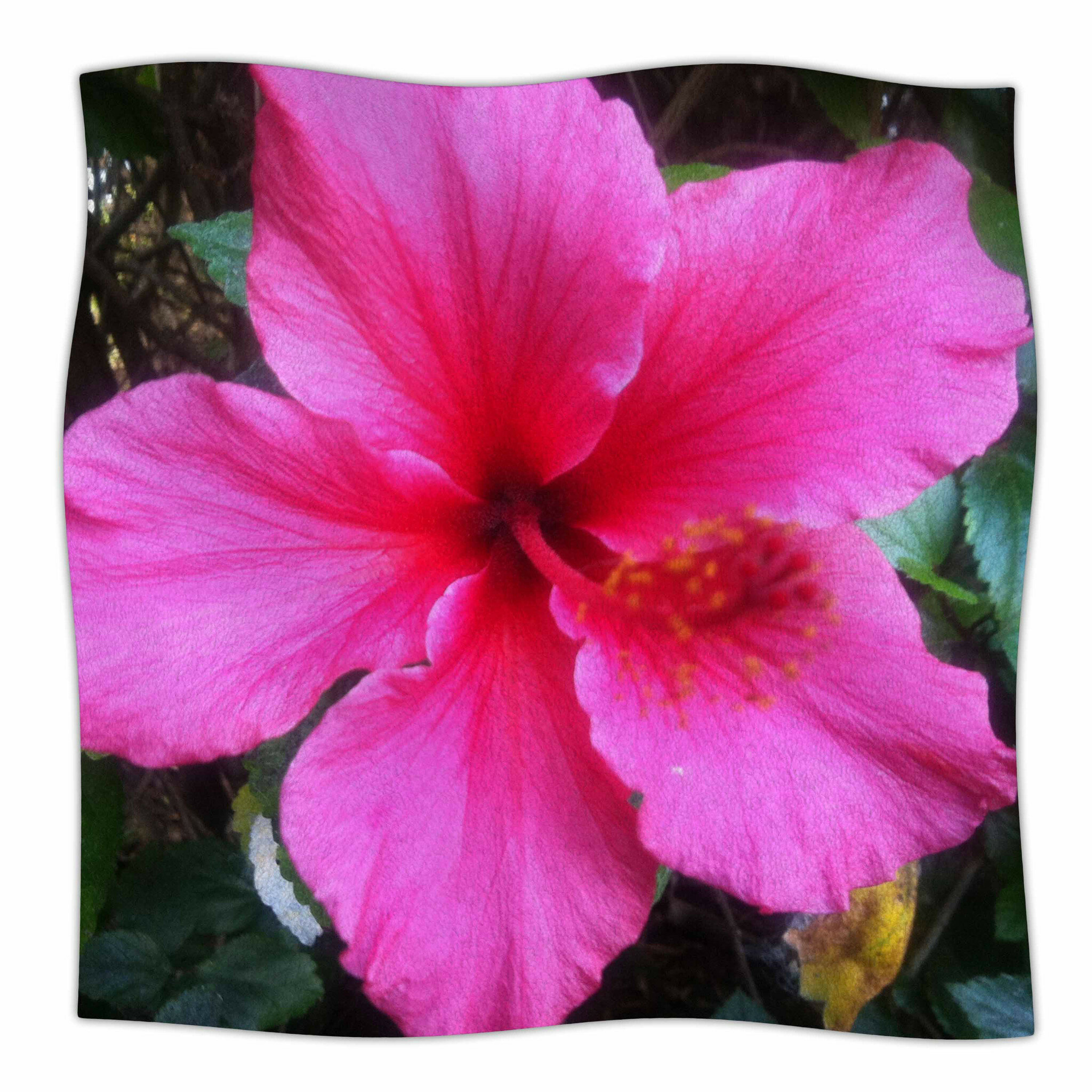 East Urban Home Tropical Pink Hibiscus By Nl Designs Fleece