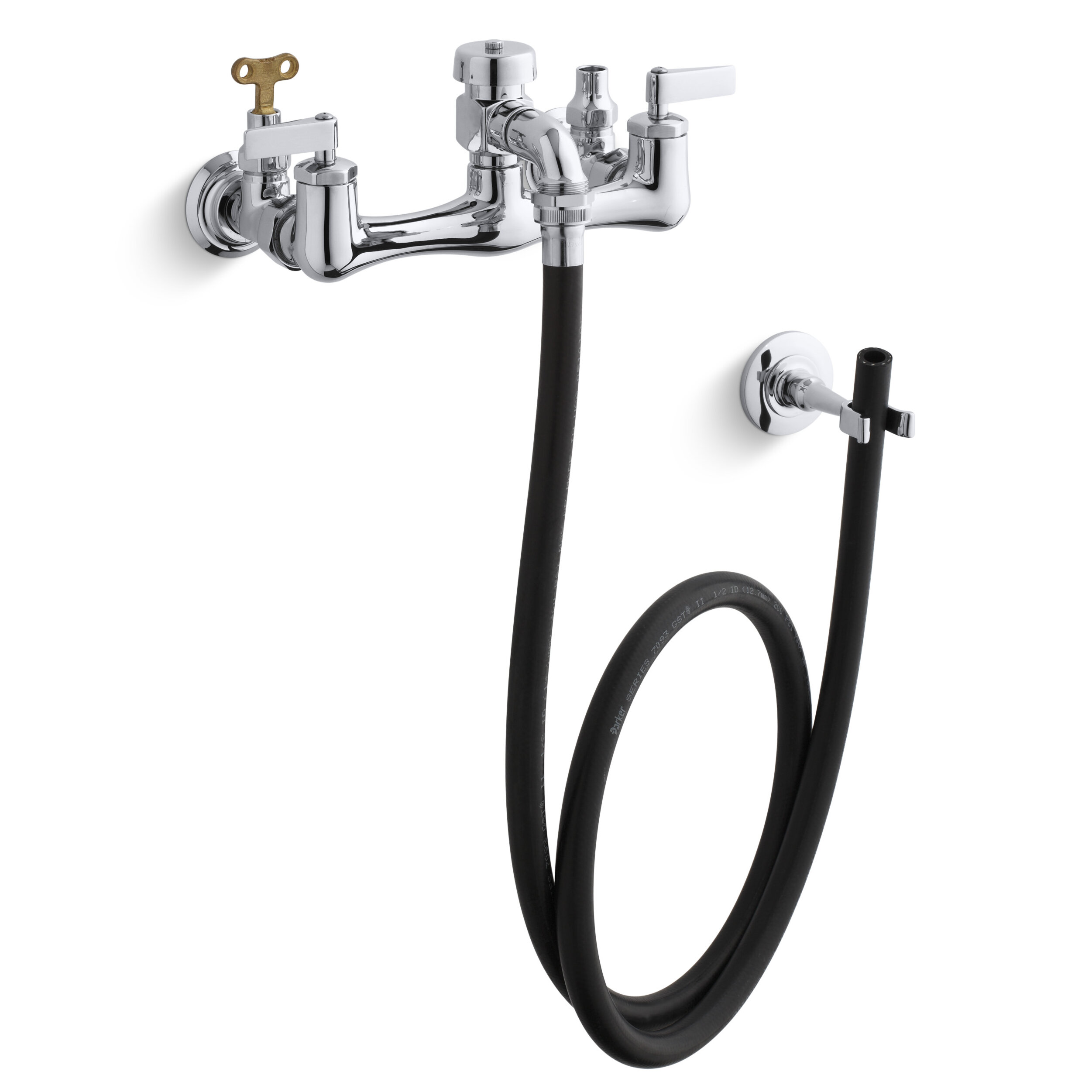 K-8928-CP Kohler Double Lever Handle Service Sink Faucet with Loose ...