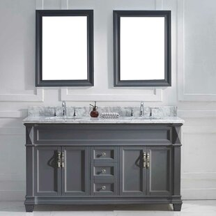 Kace 61 Double Bathroom Vanity Set With Mirror
