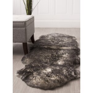Moquin Genuine Fur Double Pelt Handmade Shag Sheepskin Twilight Area Rug