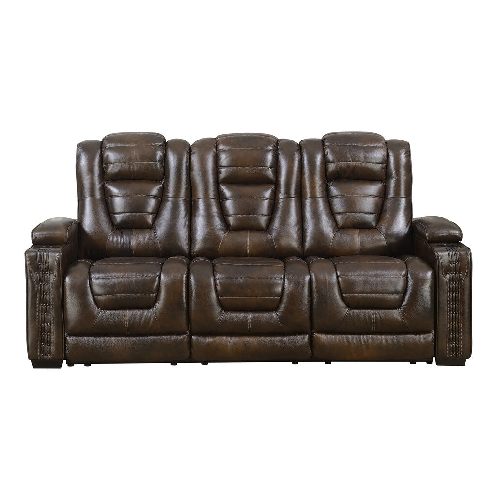Red Barrel Studio Barnhart Dual Leather Reclining Sofa Reviews Wayfair
