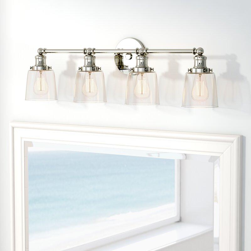 Beachcrest Home Gotha 3 Light Vanity Light Reviews: Beachcrest Home Woodburn 4-Light Vanity Light & Reviews