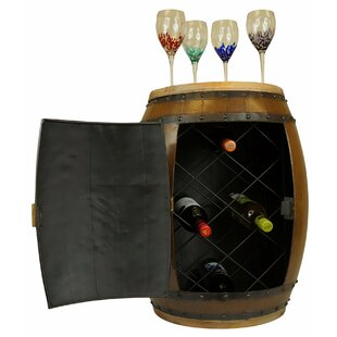Wanette Iron 10 Bottle Floor Wine Rack