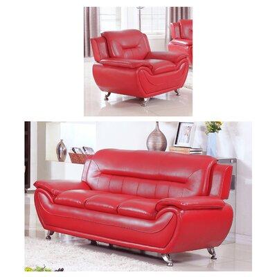 Orren Ellis Jung Modern 3 Piece Living Room Set | Wayfair