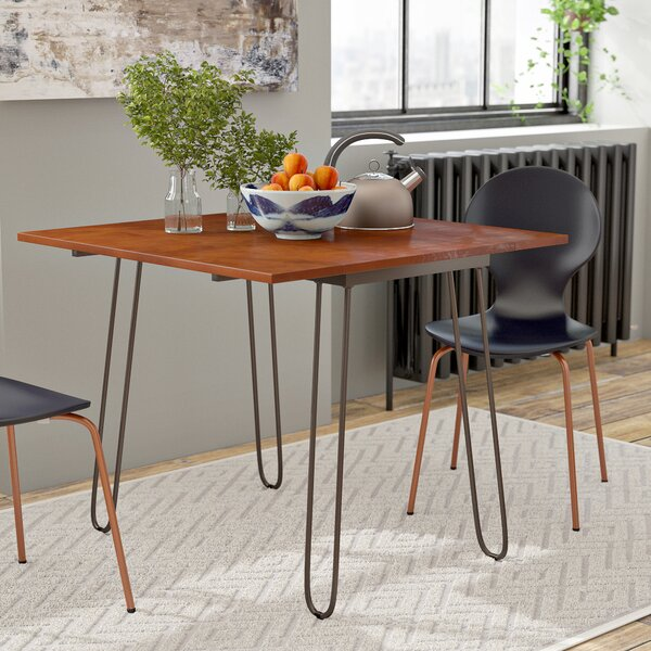Wrought Studio Parikh Drop Leaf Dining Table with Hairpin Legs ...