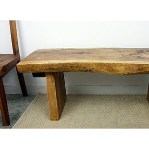 Derringer Wood Bench by Loon Peak