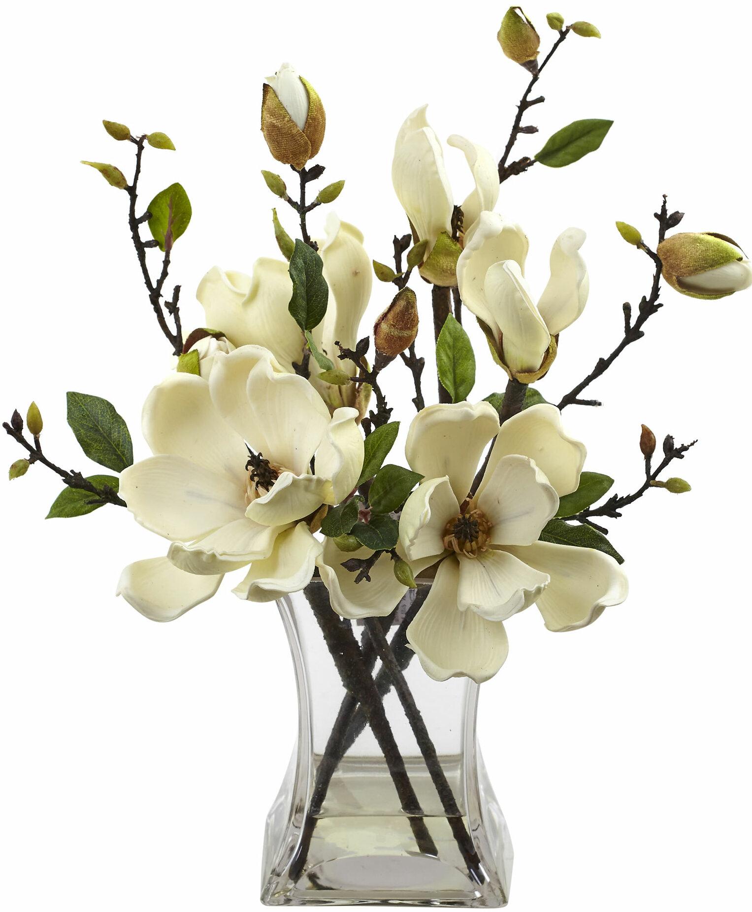 Laurel Foundry Modern Farmhouse Magnolia Arrangement With Vase