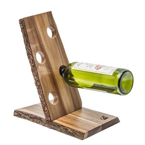 Organic Acacia 4 Bottle Tabletop Wine Rac..