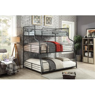 Beau Prather Twin Over Full Over Queen Triple Bunk Bed
