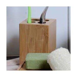 Ecobio Bamboo Square Toothbrush Holder