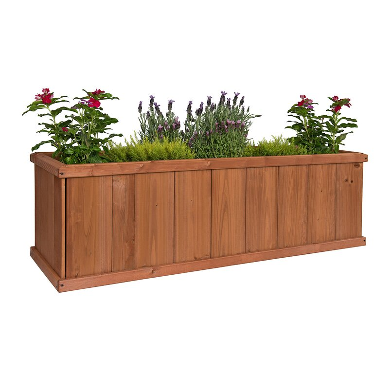 Greenstone garden gran robusto cedar planter box reviews for Wayfair garden box