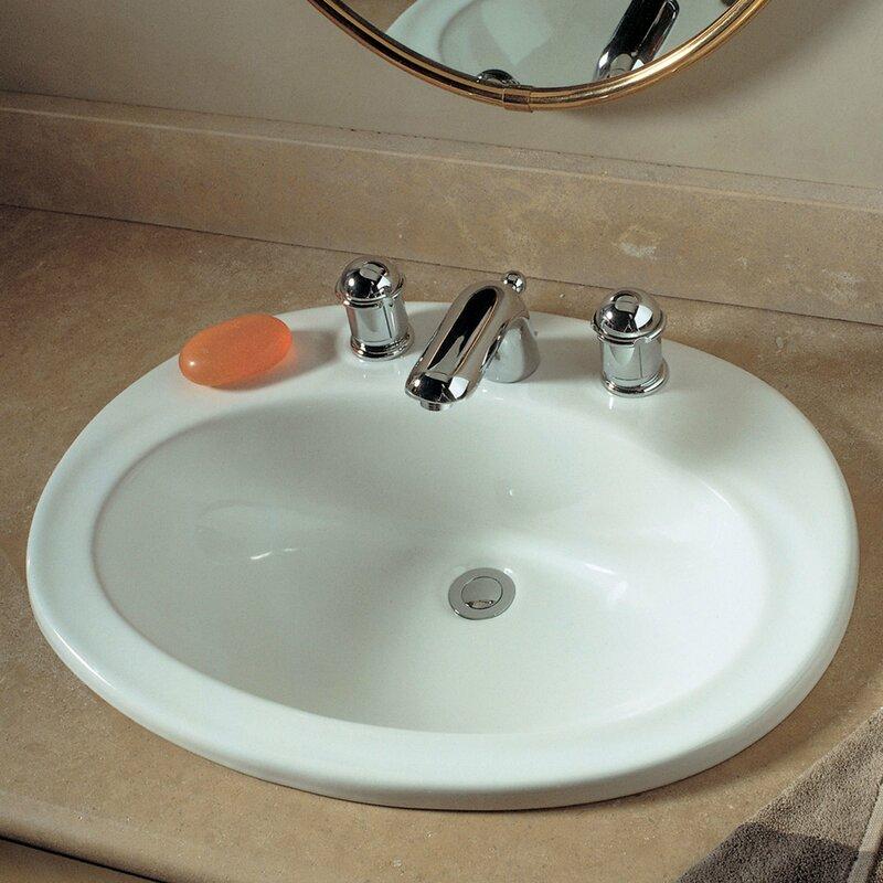 piazza self rimming bathroom sink