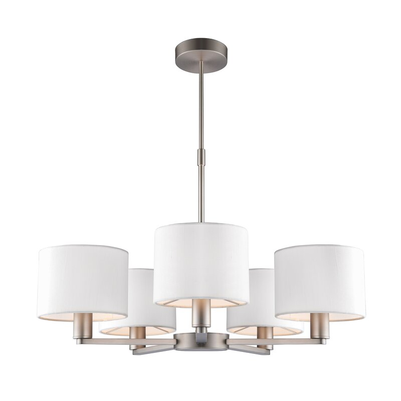 daley 5 light drum chandelier
