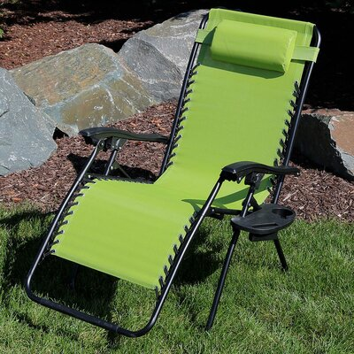 Freeport Park Annie Oversized Zero Gravity Chair with Pillow and Cup