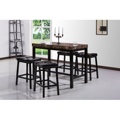 malick 5 piece pub table set