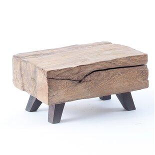 Kwan Wood Block Mini End Table