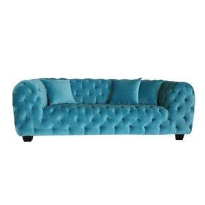 Casa Milano Velvet Tufted Chesterfield Sofa by Pasargad