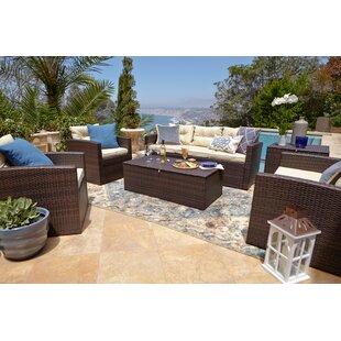 Freda 6 Piece Sofa Set With Cushions