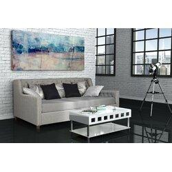 Upholstered Daybed varick gallery filkins upholstered daybed & reviews | wayfair