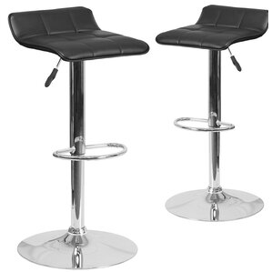 Nuno Adjustable Height Swivel Bar Stool (Set of 2) by Orren Ellis