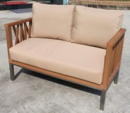 Marka Loveseat with Cushions by Hazelwood Home