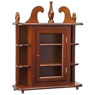 Savile Row Hardwood Wall Mounted Curio Cabinet