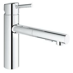 Grohe Concetto Single Handle Deck Mount Kitchen Faucet with Dual Spray Pull Out