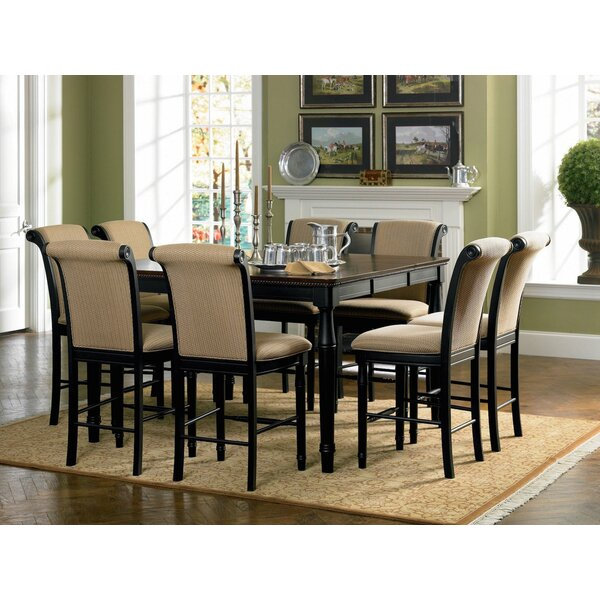 infini furnishings 9 piece counter height dining set & reviews