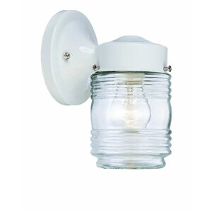 Ledbetter 1-Light Outdoor Steel Wall Lantern