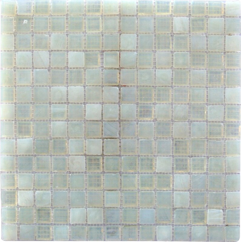 Abolos Leed Amber 0 75 X Gl Mosaic Tile In Pearl White