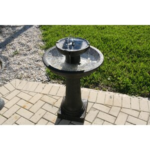 Glass Fiber Reinforced Concrete Solar 2-Tier Fountain