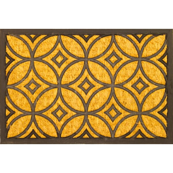 envelor home geometric art deco coir coco rubber doormat u0026 reviews wayfair - Rubber Door Mat