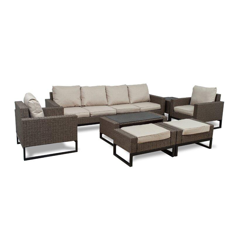Sofa You Love Thousand Oaks: Gracie Oaks Bawden 8 Piece Rattan Sofa Seating Group With