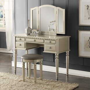 Makeup tables and vanities youll love wayfair absher vanity set aloadofball Choice Image