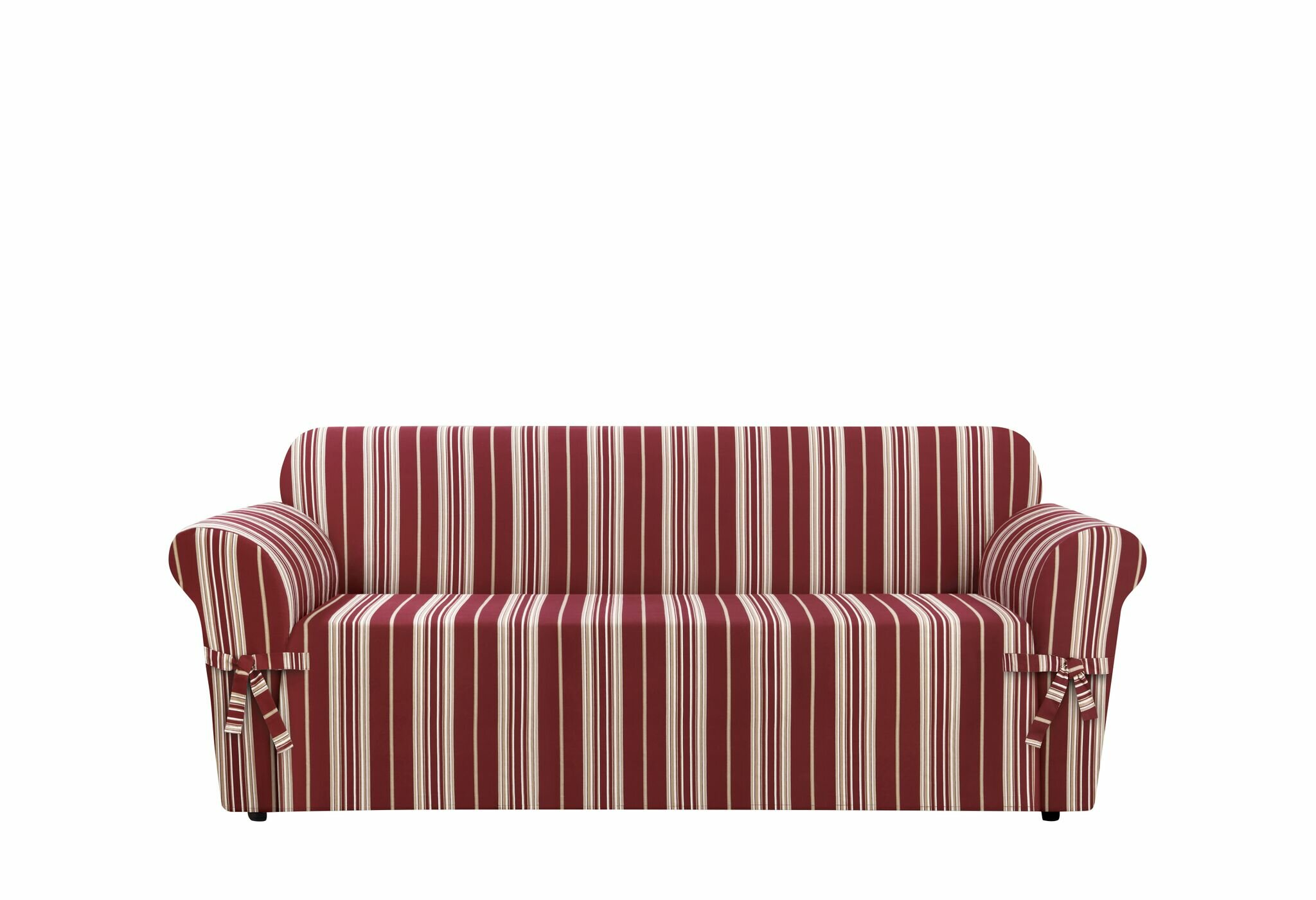 Sure Fit South Hampton Stripe Box Cushion Sofa Slipcover U0026 Reviews | Wayfair