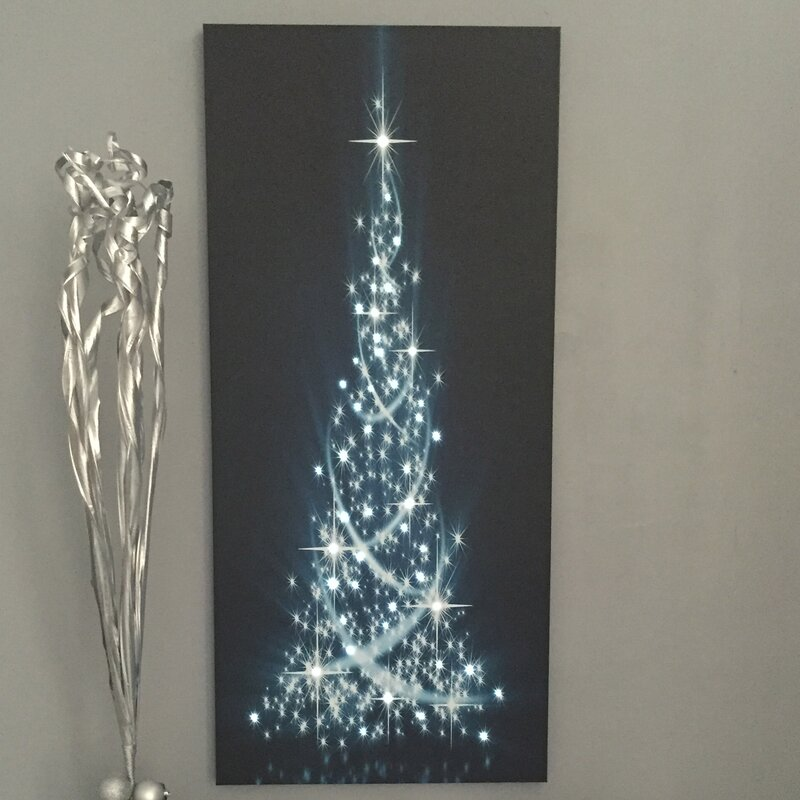 indoor led modern christmas tree graphic art