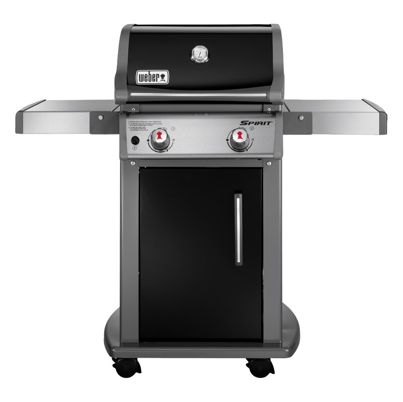 Spirit E 210 2 Burner Propane Gas Grill With Cabinet