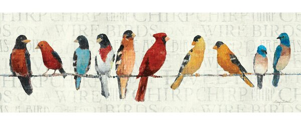 Red Barrel Studio The Usual Suspects Birds On A Wire Wall Art On