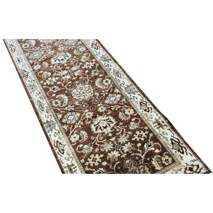 One-of-a-Kind Sultanabad Handwoven Runner 2'6 x 9'8 Wool Brown/White Area Rug By Bokara Rug Co., Inc.