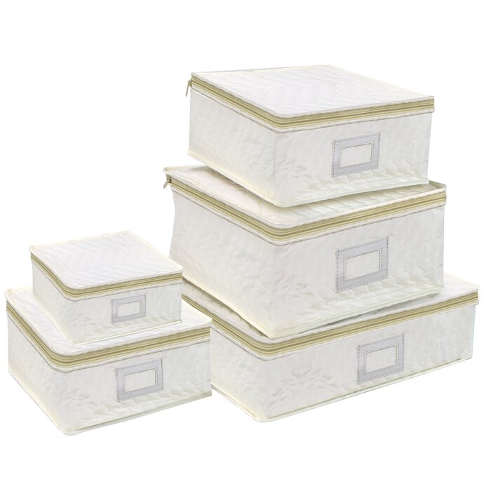 Beau Rebrilliant Dish Storage 5 Piece Dining Plate Set | Wayfair