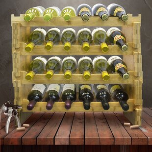 24 Bottle Floor Wine Bottle Rack